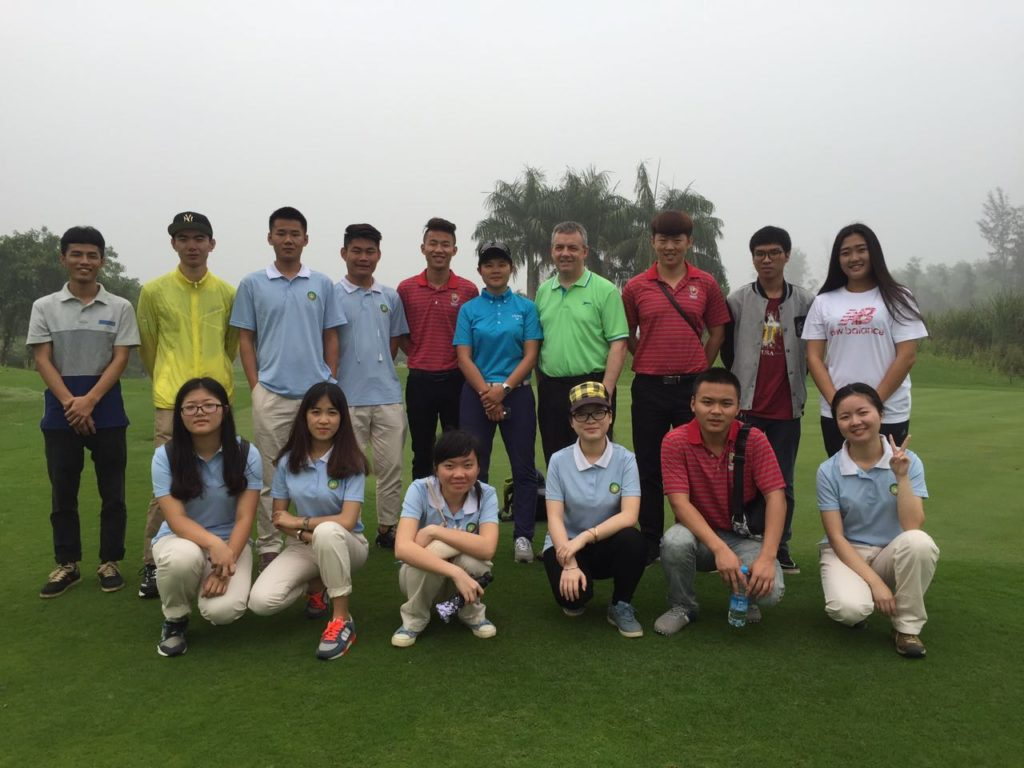 John with Students in China