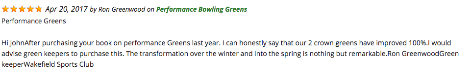 Performance Bowling Greens Review