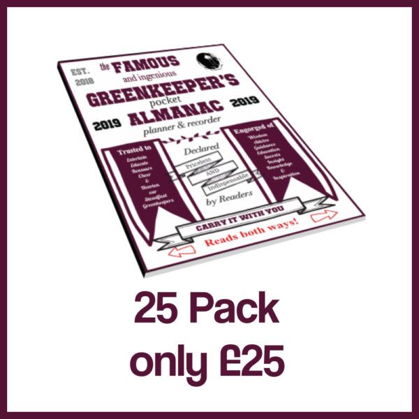 25pack greenkeepers almanac 2019