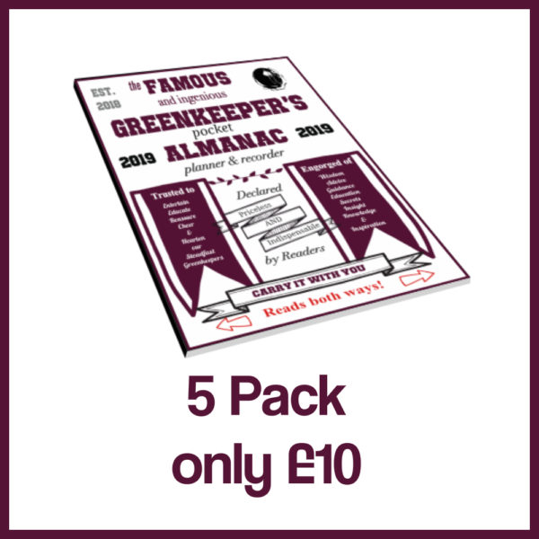 5 pack greenkeepers almanac 2019