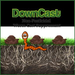 Downcast Worm cast Suppressant or fine turf